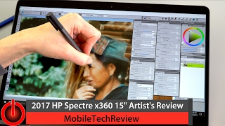 """2017 HP Spectre x360 15"""" Review for Artists"""