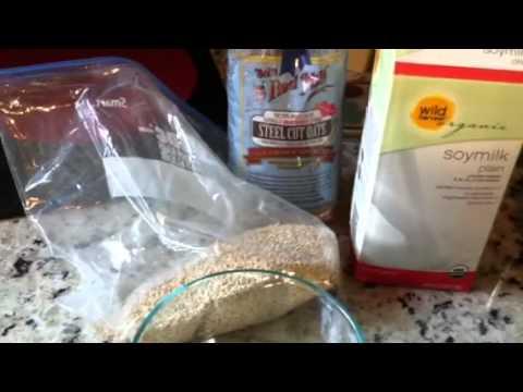 Stella cut oatmeal with raisins and walnuts