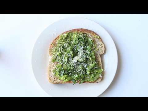 Caesar Salad Avocado Toast