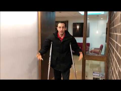 Alan Restores Water Damages With A Broken Leg!