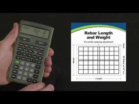 ConcreteCalc Pro Rebar Calculations How To
