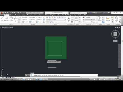 Beginners Autodesk AutoCAD 2014 Tutorial | Scaling Objects