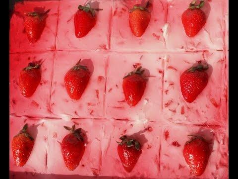 Strawberry jelly cake | Strawberry short cake | Strawberry jello cake | Strawberry dessert