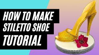 fd6549fe7baf High Heel Fashion CHOCOLATE Stiletto Shoe Cake - How To Make by ...