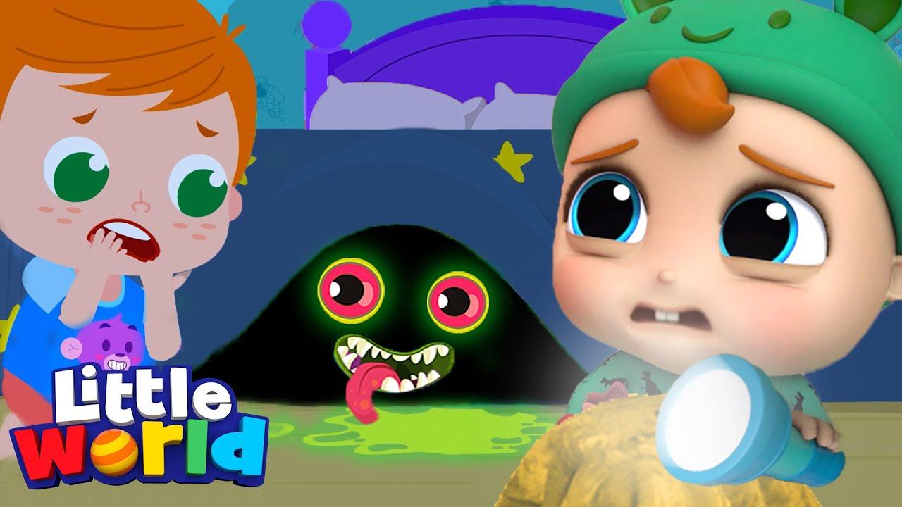 Monsters In The Dark   Baby John Series   Little World Kids Songs & Nursery Rhymes