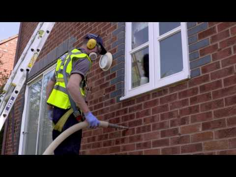 Installing BillSaveUK cavity wall insulation