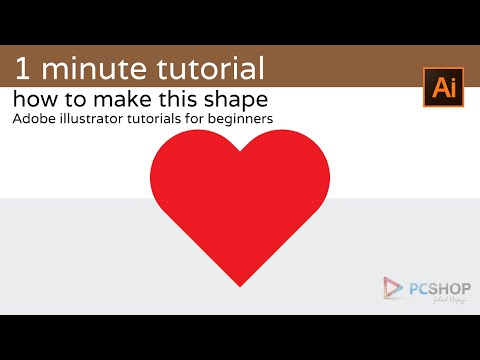 1 minute tutorial: illustrator for beginners (heart shape)