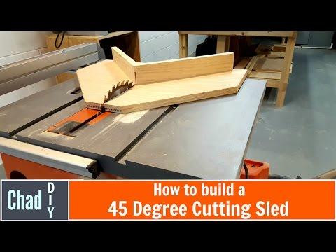 Simple 45 Degree Crosscut Sled
