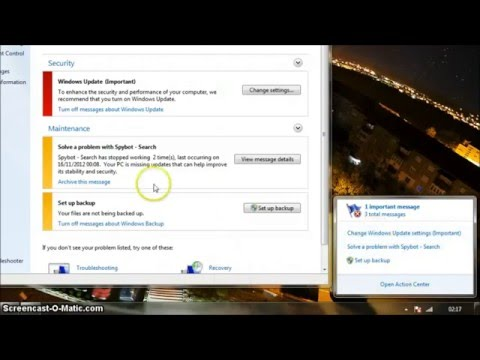 Stop updates and pop-up messages on Windows 7