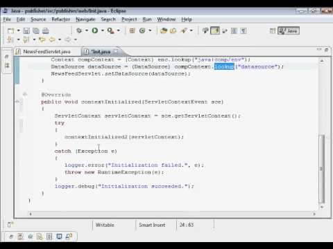 Java Web Programming with Eclipse: Database Connection Pooling