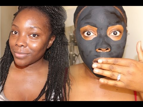 DIY CHARCOAL FACE MASK │Acne  & blackhead clearing mask!