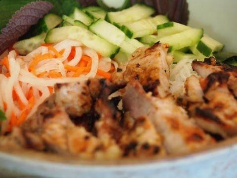 Vietnamese Grilled Pork Recipe (Bún thịt nướng)