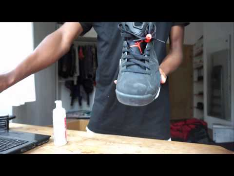 How to clean suede and Nubuck Shoes (Puma Suede and Jordan 6 Infrared) auf Deutsch