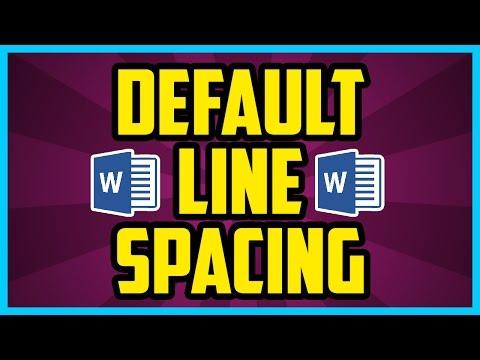 What Is The Default Line Spacing In Word 2016 (QUICK & EASY) - Word Default Spacing Settings