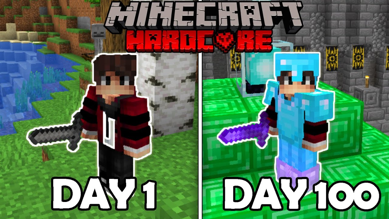 I Survived 100 Days Straight in Minecraft Hardcore