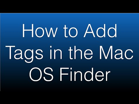 How to Add Tags in the Mac OS Finder