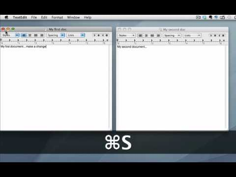 Learn to use a Mac - how to save files in different formats