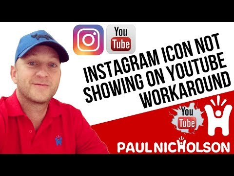 Instagram Icon Youtube Not Showing! Not A Fix But A Workaround
