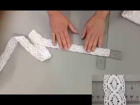 hometex ca  lace trim white cotton crochet C1 75 64S 35 25