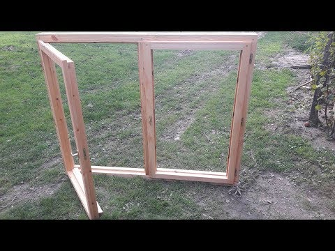 Making wooden window case and sash // Ablaktok és szárny gyártása fából