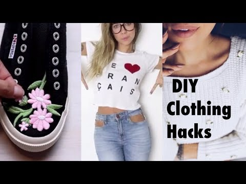 DIY Clothing Life Hacks - Amazing Ideas Every Girl should know 2017, Latest!!! 😍