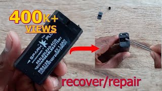 how to recover/repair 4volt lead acid battery
