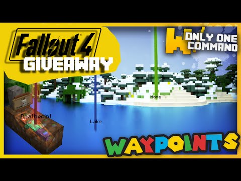 Minecraft - Waypoints & deathpoints in one command + [Fallout 4 giveaway ENDED]