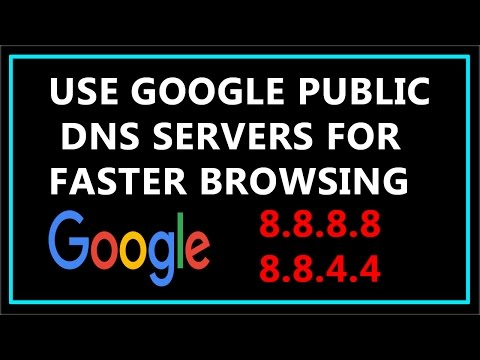 How To Change DNS to Google Public DNS Servers for Faster Browsing ?