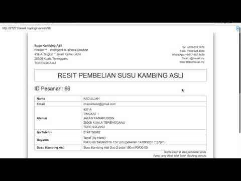 Firesell: Cara Kemaskini Status Penghantaran (Real-Time PosLaju Tracking)