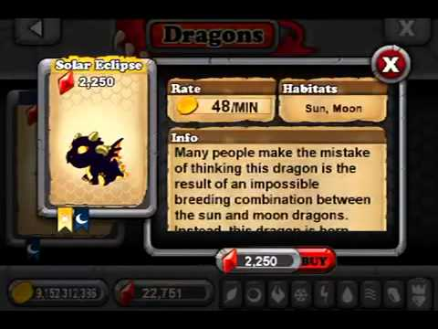 How too get a Solar Eclipse Dragon in Dragon-vale