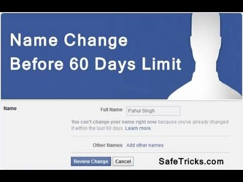 How to CHANGE Facebook name without waiting 60 days in HINDI