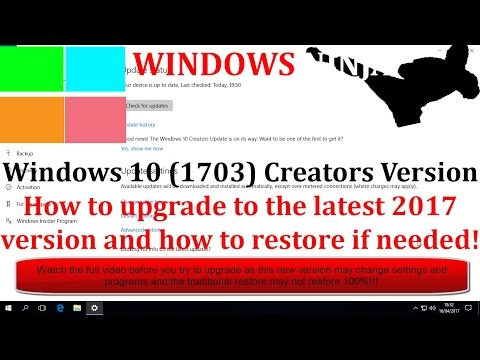 Windows 10 - Careful Upgrade To Latest
