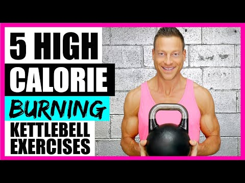 5 HIGH CALORIE BURNING EXERCISES (With Kettlebells) 🔥🔥🔥 LIVE!