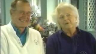 George & Barbara Bush Blooper