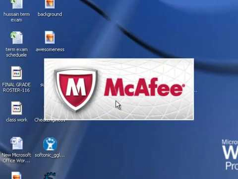 How to use Mcafee