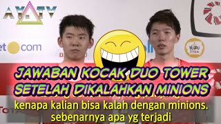 Heboh.. INTERVIEW kocak ganda china usai dikalahkan minions pada Final indonesia Masters 2018