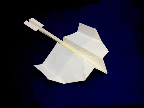 Paper plane -  Flying model origami. Paper Airplane that Flies