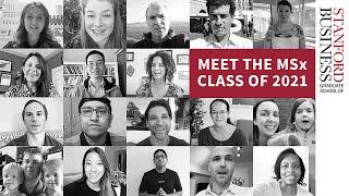 Meet the MSx Class of 2021