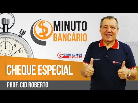 Minuto Bancário | Cheque Especial - Prof. Cid Roberto