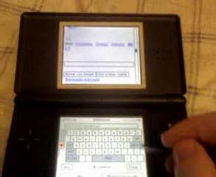 Internet en Nintendo DS lite con DSorganize