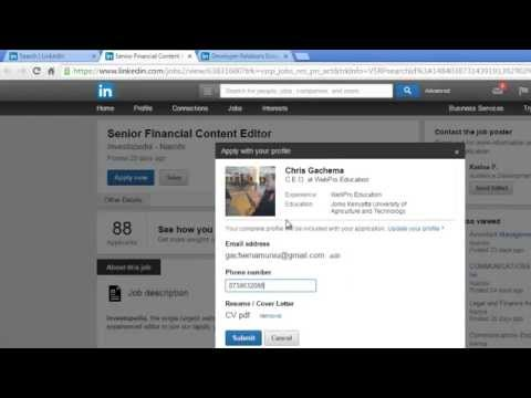 How To Search and Apply For Linkedin Jobs