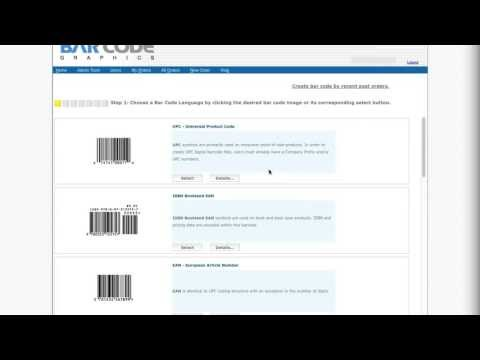 Createbarcodes.com Video Tutorial - UPC