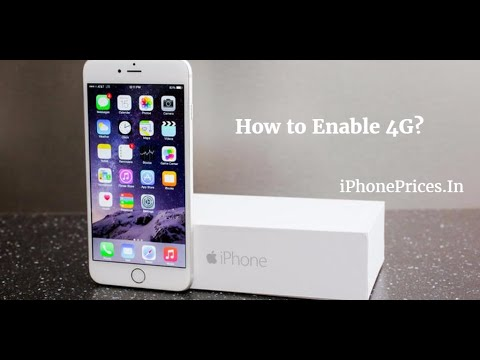 How to turn on 4G in iPhone (Enabling LTE in iPhone)