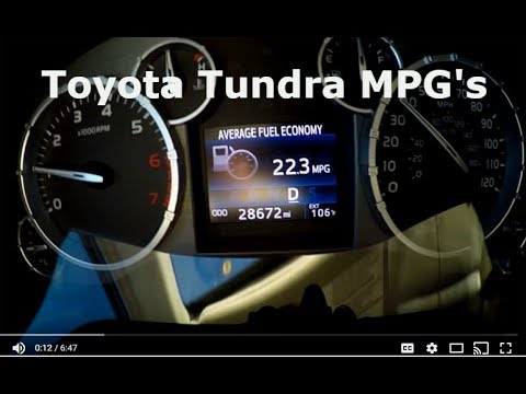Toyota Tundra MPG and Gear Oil Replacement