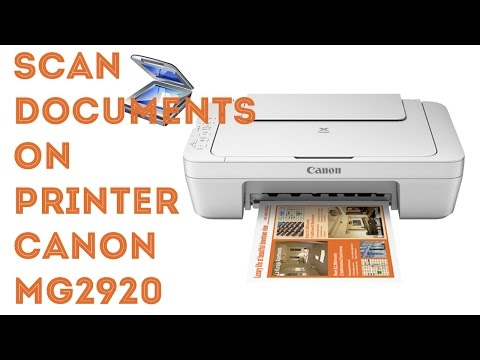 Scan feature on printer Canon MG2920