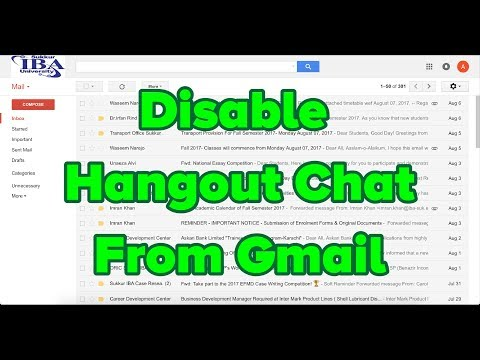 Disable Hangout Chat From Gmail 2017