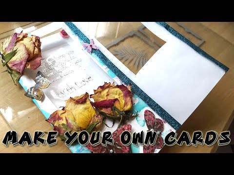 Petronela: make your own cards with nail varnish and pressed flowers