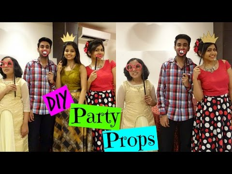 DIY: Party Photobooth Decor Props | How to Make Selfie Props | Easy & Cheap | Shweta Verma
