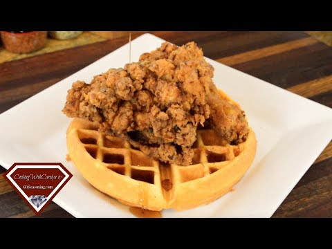 Spicy Southern Fried Chicken & Buttermilk Waffles- Spicy, Crispy & Delicious! |Cooking With Carolyn