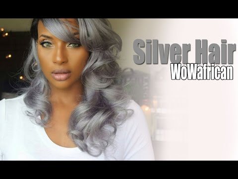 Brazilian Silver/Grey Ombre wig  with WowAfrican